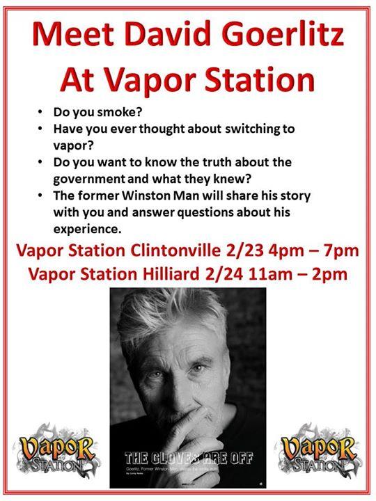 David Goerlitz (The Former Winston Man) at Vapor Station