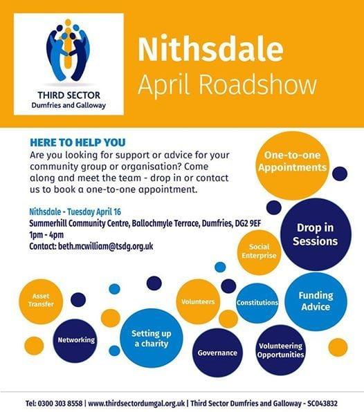Nithsdale April Roadshow - Summerhill Dumfries Tuesday April 16