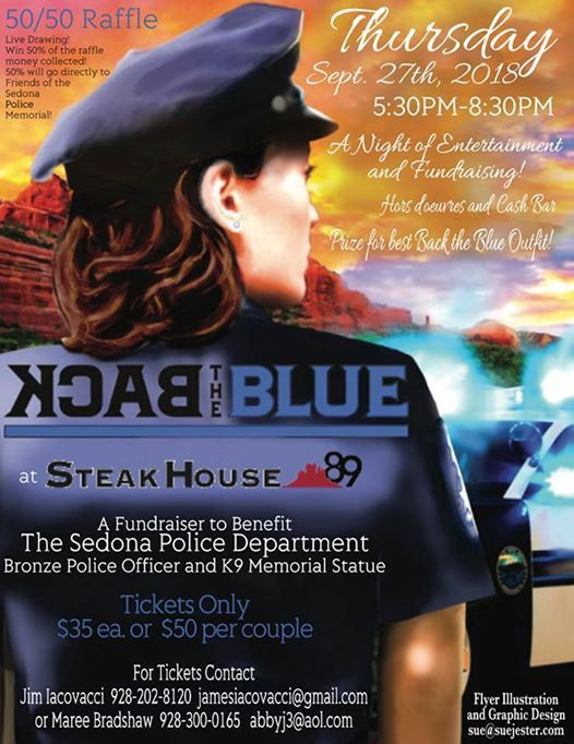 Friends of the Sedona Police Memorial BacktheBlue Steakhouse89