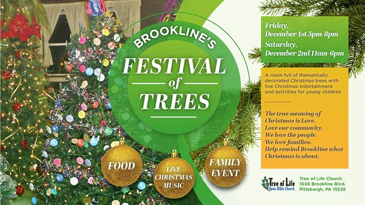 brooklines festival of trees at tree of life open bible church pittsburgh