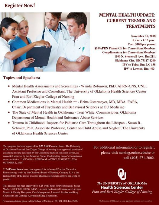 Mental Health Update Current Trends Treatments At The University