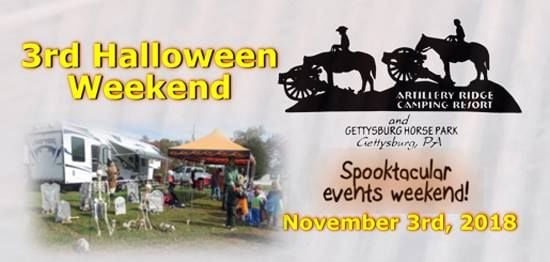 3rd halloween 2018 events weekend at artillery ridge campground
