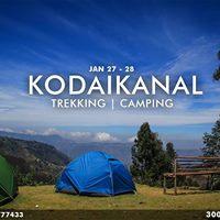 Kodaikanal Trekking &amp Camping January 2018