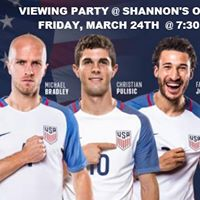 USA World Cup Qualifying Viewing Party at Shannons on Pine