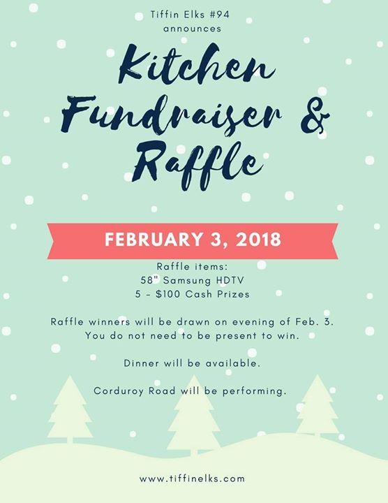 Kitchen Fundraiser Raffle At Tiffin Elks Club Lodge 94 Tiffin
