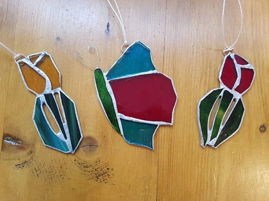 Introduction To Stained Glass - Spring Flowers