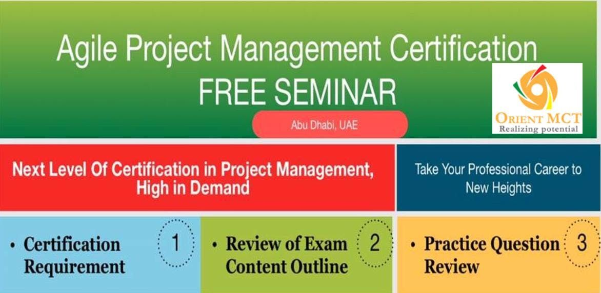 Free Seminar On Agile Project Management Certification At Orient