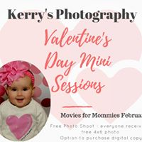 Valentines Photos w Kerrys Photography at Movies for Mommies