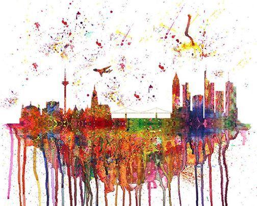 ArtMasters - Paint Party - Frankfurt Skyline Splash