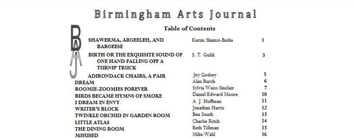 Birmingham Arts Journal Meeting