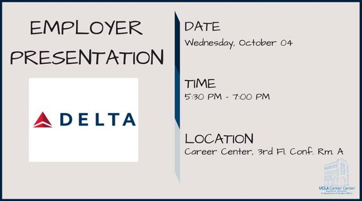 Delta Air Lines Employer Presentation at UCLA Career Center