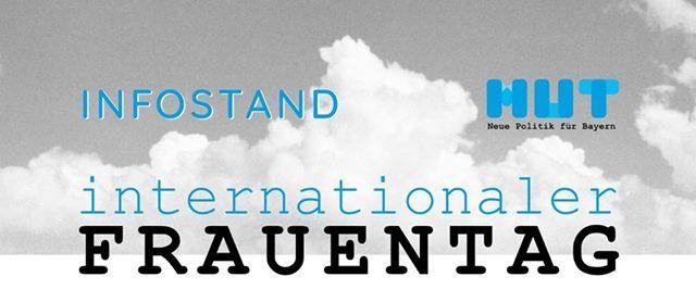 Infostand zum internationalen Frauentag in Bayreuth