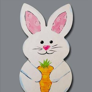 Family Class Hoppy Bunny Wooden Cutout 25person At Painting