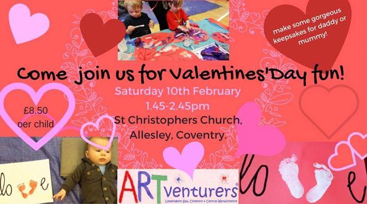 Valentines Day Fun Artventurers Saturday Family Class At St
