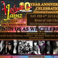 HOLY JAMZ 10 yr ANNIVERSARY CELEBRATION