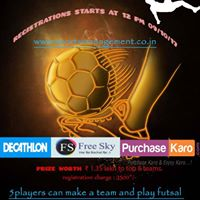 Baroda District Open Futsal Tournament (BOYS or MENS)