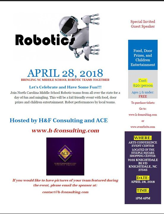 Celebrating NC Middle School Robotic Teams