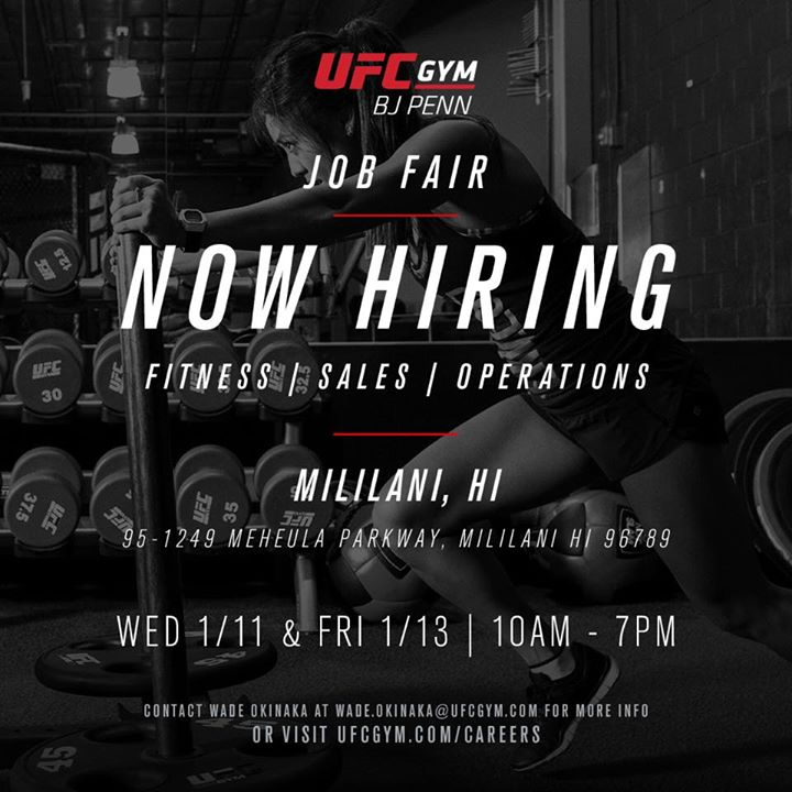 Job Fair - UFC GYM Mililani | Mililani Town