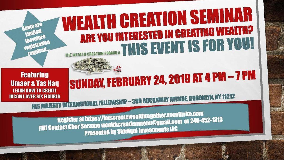 Wealth Creation Seminar at His Majesty International Fellowship