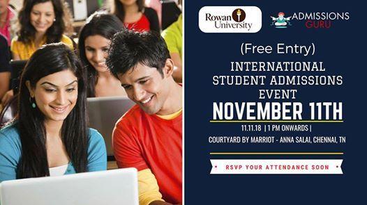 Rowan University International Student Admissions Event
