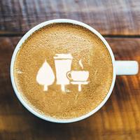 Kafe na dřevo