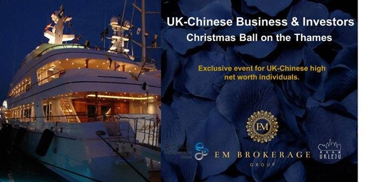 UK-Chinese Business & Investors Christmas Ball on the Thames