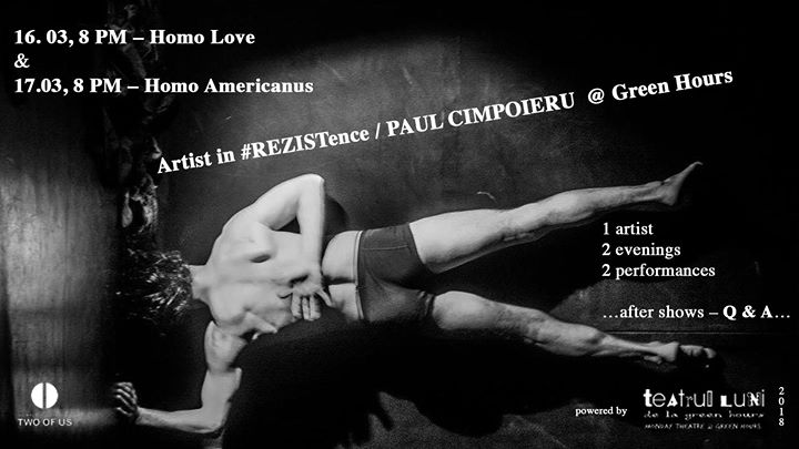 Paul  Artist in REZISTence at Green Hours  16 & 17.03