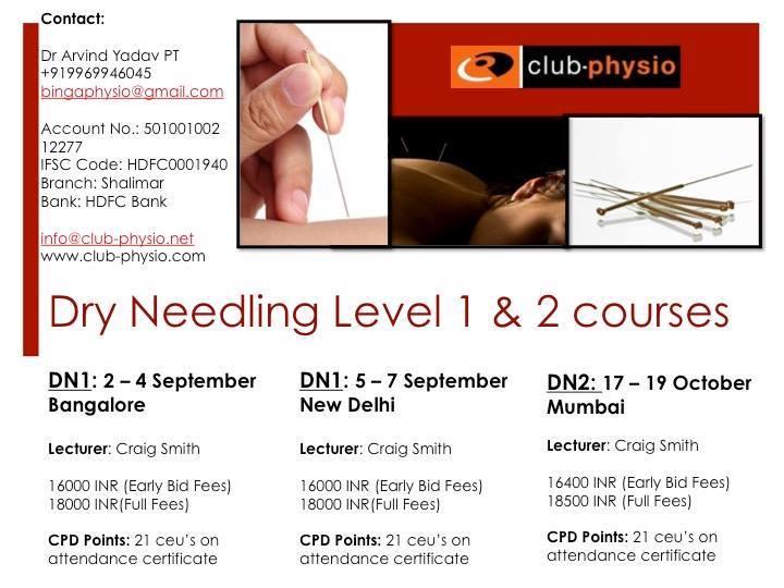 Dry Needling Course By Craig Smith at Delhi, India, Delhi