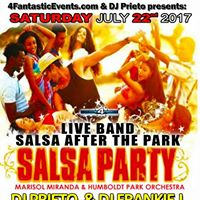 Live Salsa Band After the Park - RSVP for Reduce price