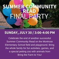 Summer Community Read Final Party