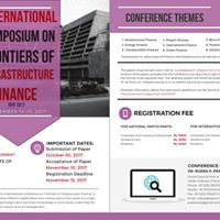 International Symposium on Frontiers of Infrastructure Finance