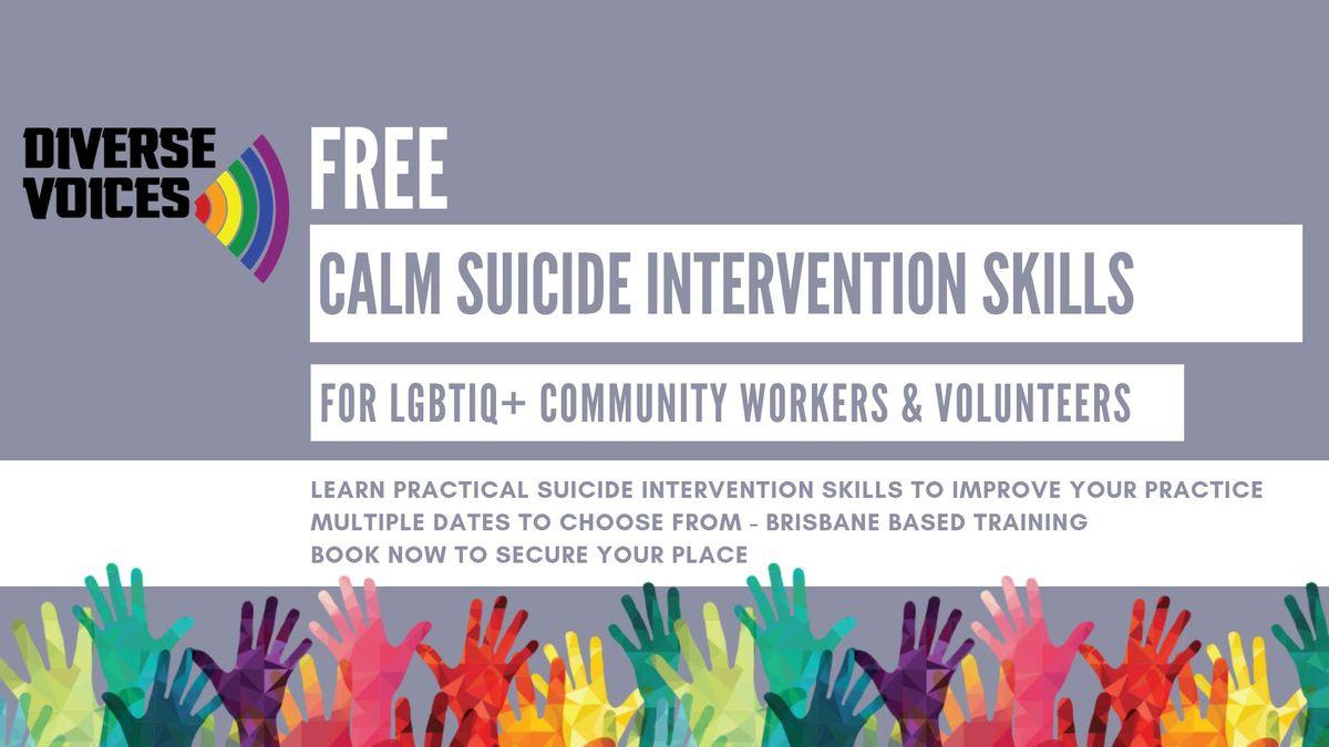 CALM Suicide Intervention Skills Training