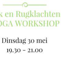NekRugklachten Yoga workshop