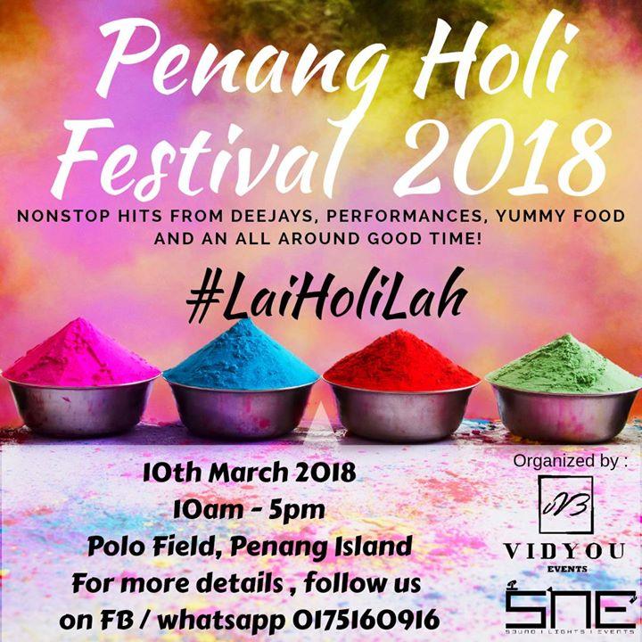 Penang HOLI FEST 2018