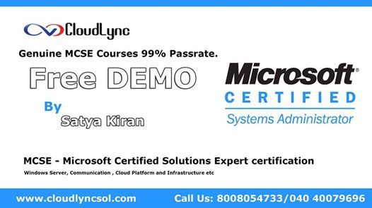 Microsoft Certified Solutions Associate at Hyderabad | Hyderabad