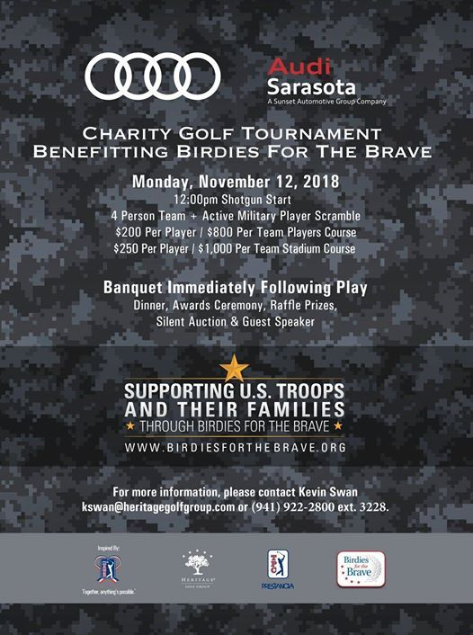 Audi Sarasotas Charity Golf Tourney For Birdies For The Brave At - Audi sarasota
