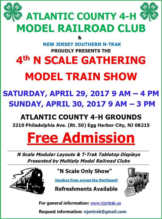 Atlantic City N Scale Gathering at Atlantic County 4H Model Railroad