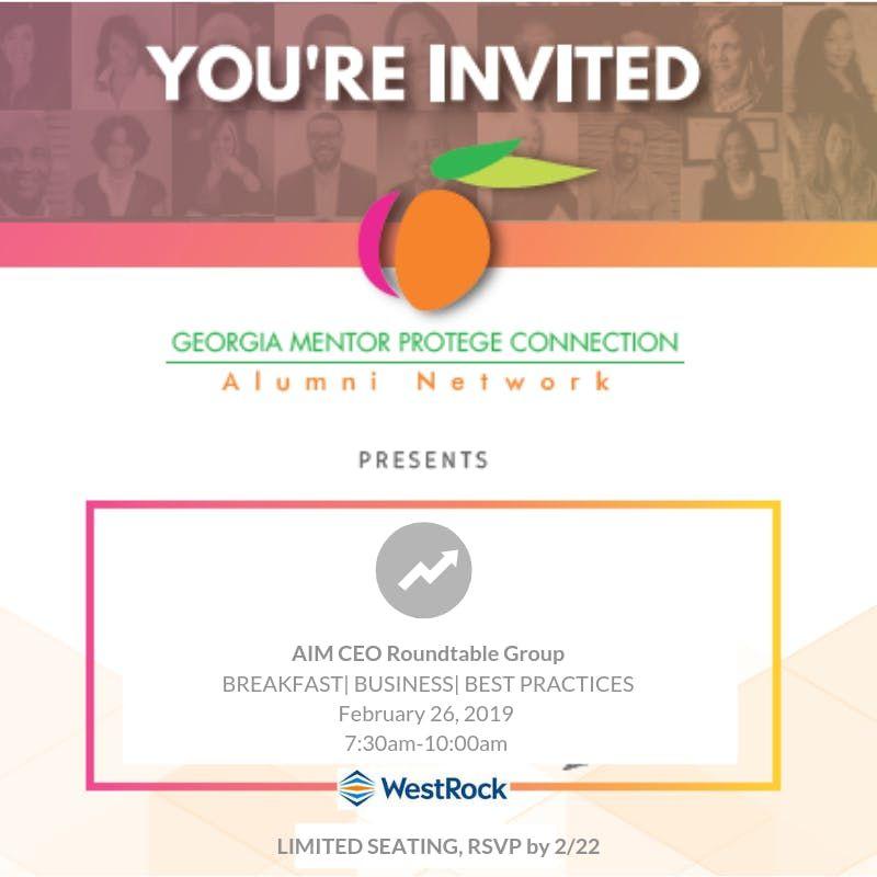 AIM ( Alumni In Motion) CEO Roundtable Group Meet-Up Breakfast Business  Best Practices WestRock