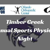 Timber Creek Annual Sports Physical Night