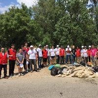 Limpieza del Ebro en Logroo