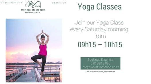Saturday morning Yoga Classes