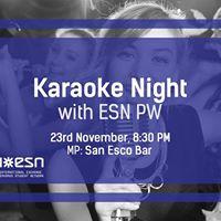 Karaoke Night with ESN PW