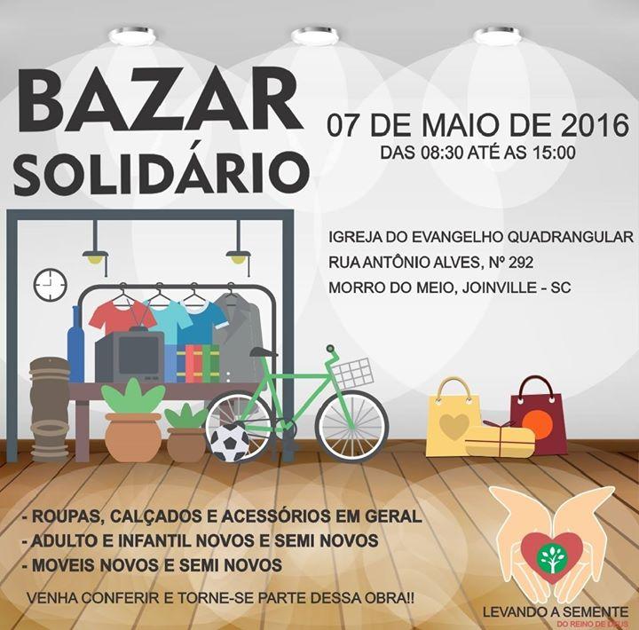 ff0cbcac314 Bazar Solidário - Projeto Levando a Semente at Joinville