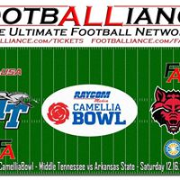 Camellia Bowl  Middle Tennessee vs Arkansas State CamelliaBowl