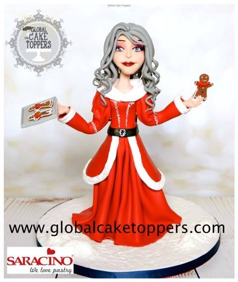 Mrs Claus - Masterclass with Anjali Global Cake Toppers - 180
