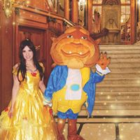 Beauty and the Beast bubble dance party