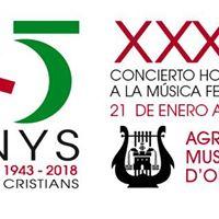 XXX Homenaje a la Msica Festera. Agrupacin Musical dOntinyent