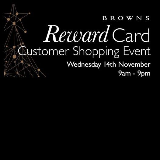 Exclusive Reward Card Shopping Event