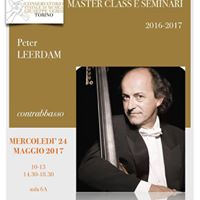 Masterclass Peter Leerdam - contrabbasso