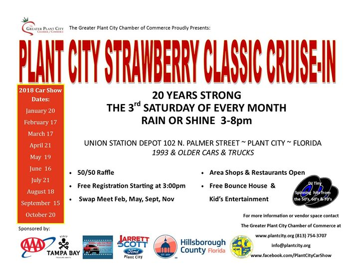 Plant City Strawberry Classic CruiseIn Plant City - Plant city car show 2018